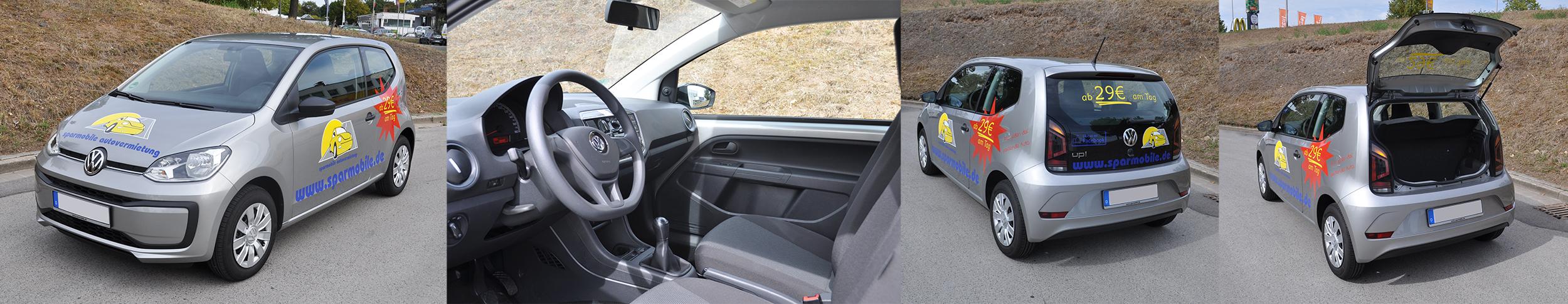 VW Up 2018 - Ausstattung Mietwagen