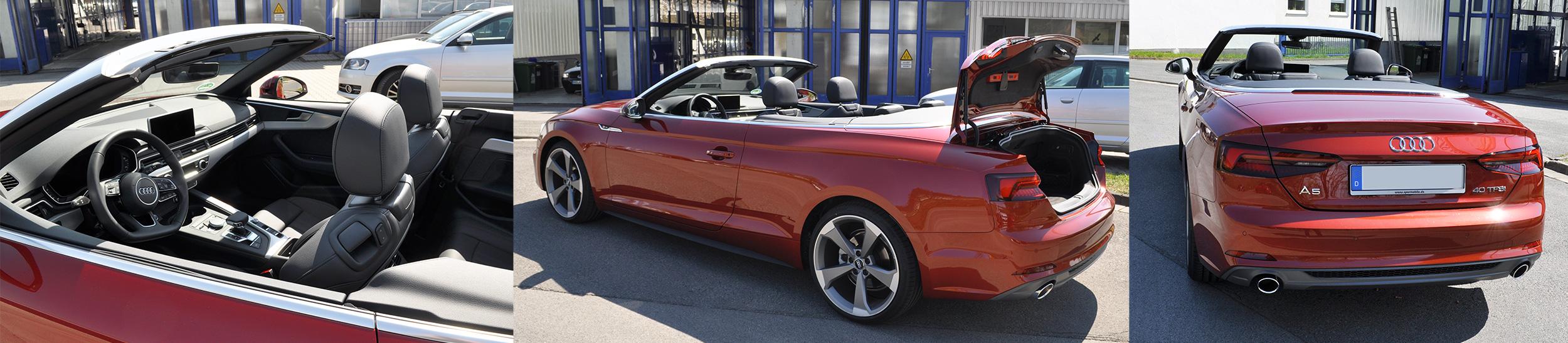 Audi A5 Cabrio S-Line Ausstattung